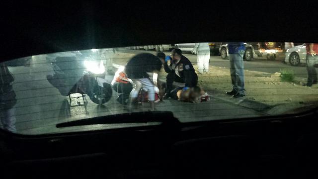Paramedics at the scene of the attack. (Photo: Gabriel Michaeli)