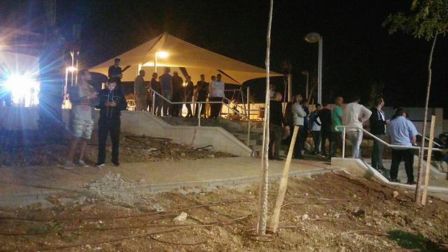 זירת הפיגוע (צילום: בראל אפרים) (צילום: בראל אפרים)