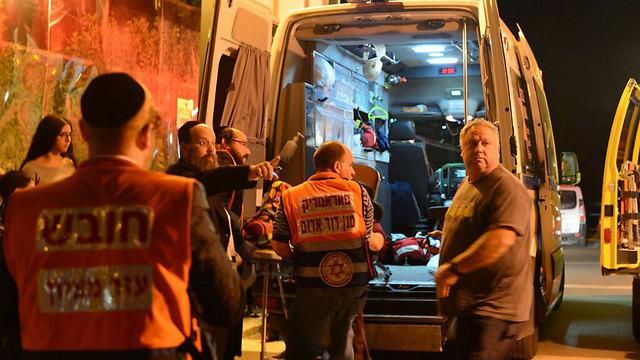 הפצועים פונו לבית החולים ברזילי באשקלון (צילום: אבי רוקח) (צילום: אבי רוקח)