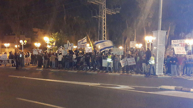 Protesting against the gas plan. Netanyahu can use the Turkish statements to defend against challenges in the hiugh court (Photo: Ahiya Raved)