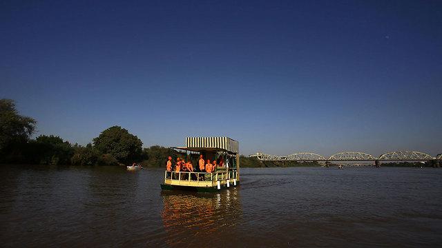 הנילוס באזור חרטום, בירת סודן (צילום: AFP) (צילום: AFP)