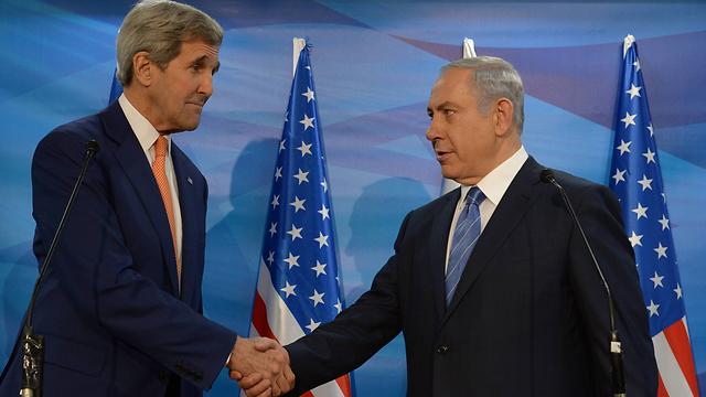 US Secretary of State Kerry and Prime Minister Netanyahu (Photo: Amos Ben-Gershom)