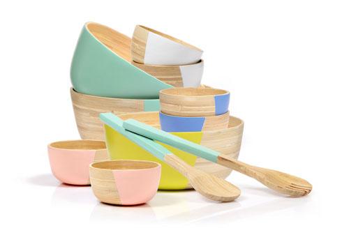 כלי הגשה ''טבולים'' בהשראה סקנדינבית ב''ביתילי'' (צילום: אפרת אשל)