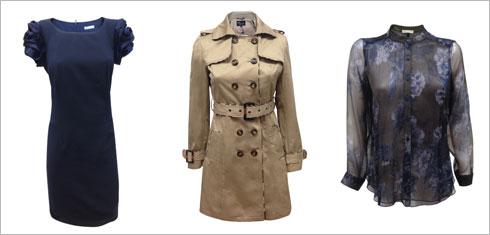 חולצת שיפון, 649 שקל; מעיל טרנץ', 1,499 שקל; שמלה, 999 שקל (צילום: רועי בלנק)