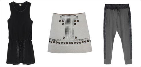 מכנסיים, 639 שקל; חצאית, 689 שקל; שמלה ללא שרוולים, 639 שקל  (צילום: טל טרי)
