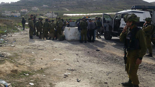 Scene of the attack at the Fawwar junction (Photo: Mount Hebron spokesman)