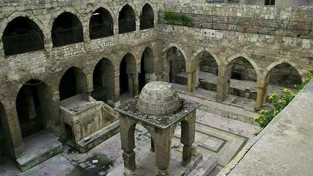 The Central Synagogue in Aleppo in 2011, before it was destroyed.