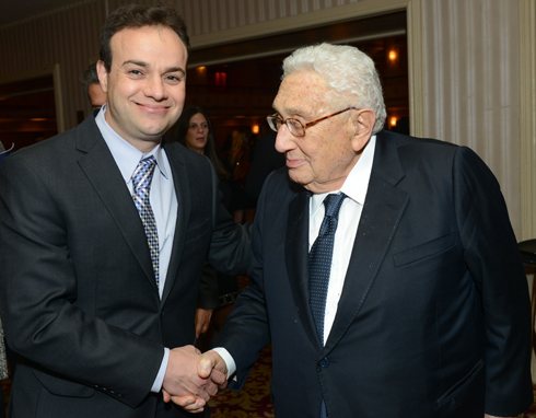 Puder with former US Secretary of State Henry Kissinger. 'There is a lack of knowledge in Israeli society about American Jewry' (Photo: Shahar Azran)