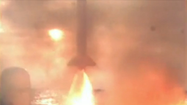 """רגע השיגור (צילום: דובר צה""""ל) (צילום: דובר צה"""