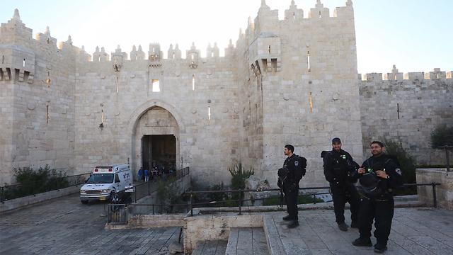 The earlier attack at Damascus Gate (Photo: Gil Yochanan) (Photo: Gil Yohanan)