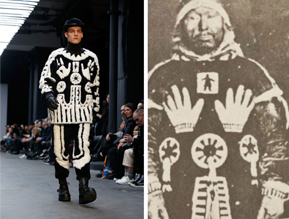 דוגמה ייחודית. העיצוב המסורתי בתמונה משנת 1922 (מימין) והמעיל של KTZ (צילום: (שמאל) gettyimages)