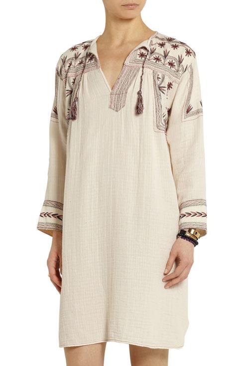 הפער בין מוצר מסורתי לפריט יוקרה. שמלה של איזבל מארה (מתוך האתר net-a-porter.com)