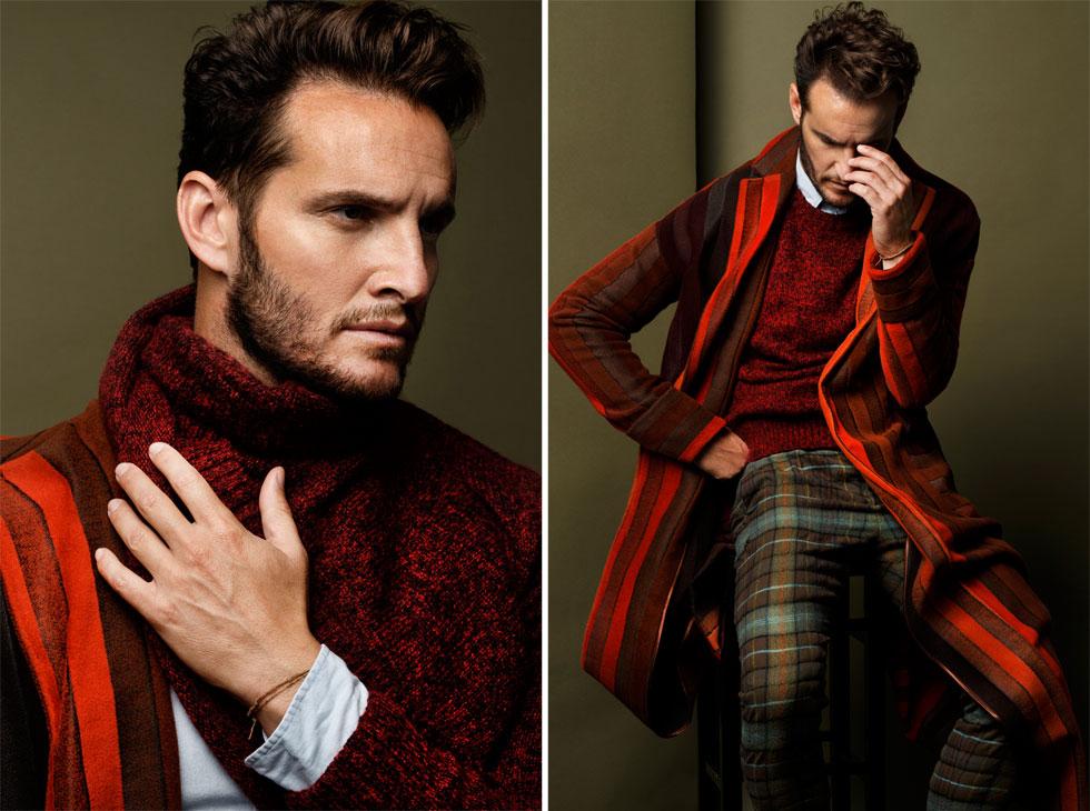 מכנסיים וז'קט, רנואר - קולקציית המסלול; סריג, H&M; חולצה, טומי הילפיגר (צילום: דניאל קמינסקי )