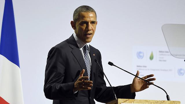הנשיא אובמה בוועידת האקלים בשבוע שעבר (צילום: AFP) (צילום: AFP)