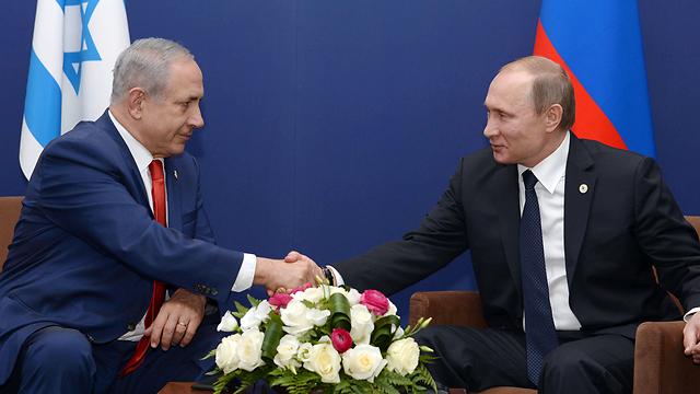 Netanyahu and Putin (Photo: Amos Ben Gershom, GPO)