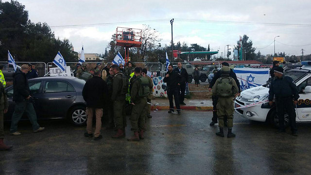 Scene of stabbing attack at Gush Etzion
