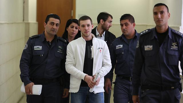 Gabai at court for his sentencing (Photo: Gil Yohanan) (Photo: Gil Yohanan)