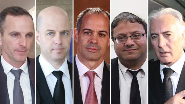 מימין לשמאל: עורכי הדין אמיר, בן גביר, קידר, הבר והלוי (צילום: אלי מנדלבאום, EPA, אבי מועלם, מוטי קמחי) (צילום: אלי מנדלבאום, EPA, אבי מועלם, מוטי קמחי)
