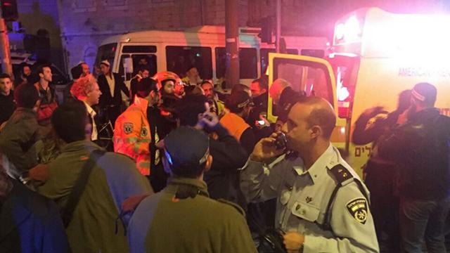 The scene of the attack at HaNevi'im Street in Jerusalem.