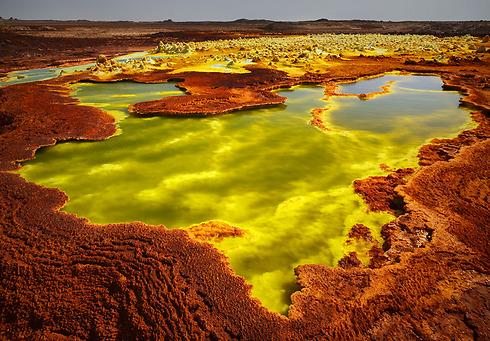 Pools of sulphuric acid, Dallol, Ethiopia (Photo: Erez Marom)