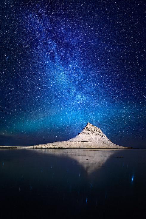 The Milky Way about Kirkjufell Mountain, Iceland (Photo: Erez Marom)