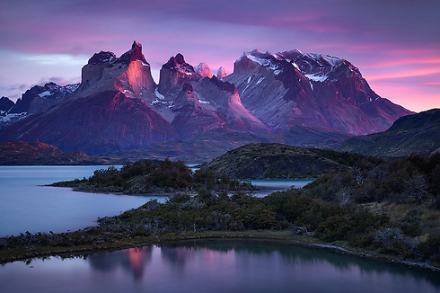 The Cuernos Del Paine mountains at the Torres Del Paine national park, Chile (Photo: Erez Marom)