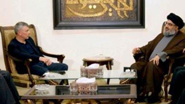 Sleiman Frangieh with Hezbollah head Hassan Nasrallah.
