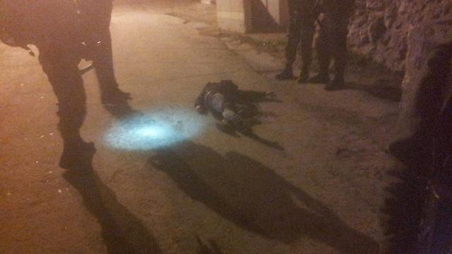 One of the dead terrorists (Photo: Haim Blicher, TPS)