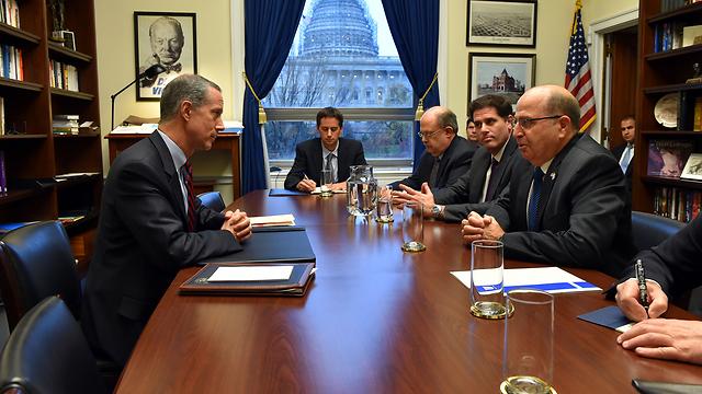 יעלון בוושינגטון (צילום: אריאל חרמוני, משרד הביטחון) (צילום: אריאל חרמוני, משרד הביטחון)
