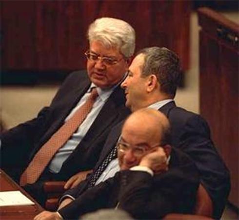 """2000: שריד, ברק ולוי במליאת הכנסת (צילום: אבי אוחיון, לע""""מ) (צילום: אבי אוחיון, לע"""