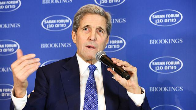 Kerry at the Saban Forum (Photo: Ralph Alswang)