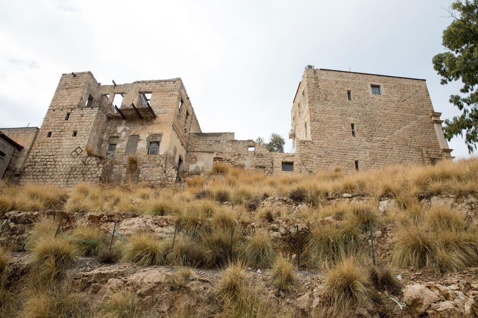 המבנה השני שישומר. באחד מהם יהיה בית קפה, ובאחר מרכז מידע (צילום: דור נבו)