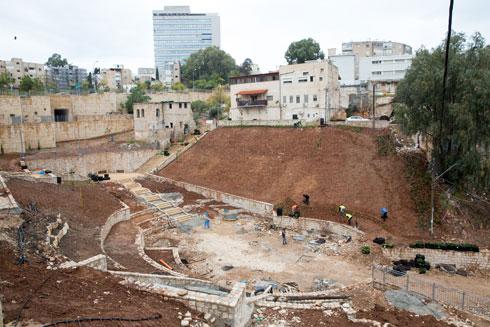 עבודות התשתית בוואדי סאליב לקראת הקמת הפארק (צילום: דור נבו)