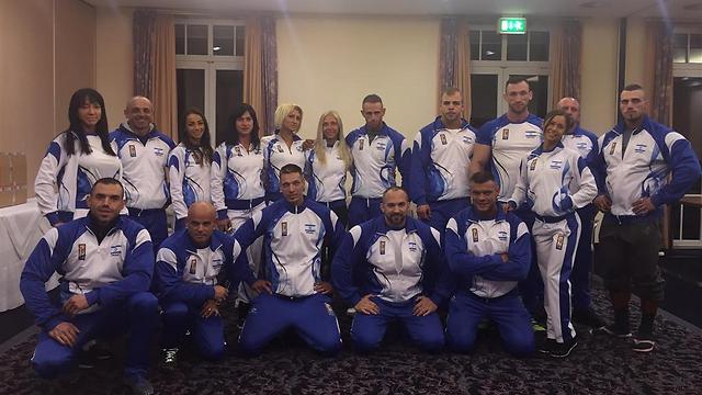The Israeli delegation tothe Mr. Universe competition
