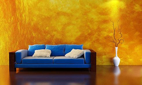 גם בקירות יש אלמנט קטיפתי. עיצוב חורפי לרשת נירלט (צילום: דן לב) (צילום: דן לב)