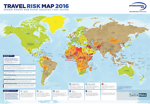 The travel risk map (Photo: International SOS)