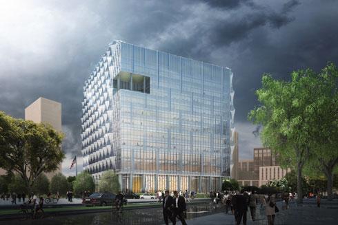 זכוכית עמידה לפיצוצים. כך תיראה השגרירות האמריקאית בלונדון (הדמייה: KieranTimberlake)