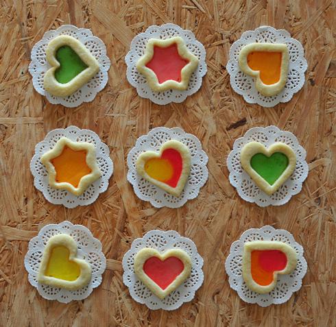 העוגיות השקופות מוצלחות במיוחד כשהמסגרת דקה (צילום: אפרת מוסקוביץ)