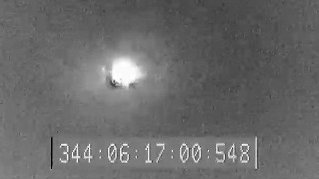 הפגיעה המוצלחת בטיל המטרה (צילום: אגף דוברות והסברה, משרד הביטחון) (צילום: אגף דוברות והסברה, משרד הביטחון)