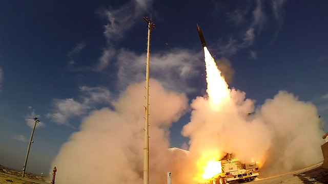 Arrow-3 test (Photo: Defense Ministry Spokesman)