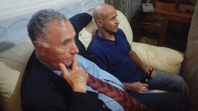 טראבין ופרקליטו יצחק מלצר (צילום: בראל אפרים) (צילום: בראל אפרים)
