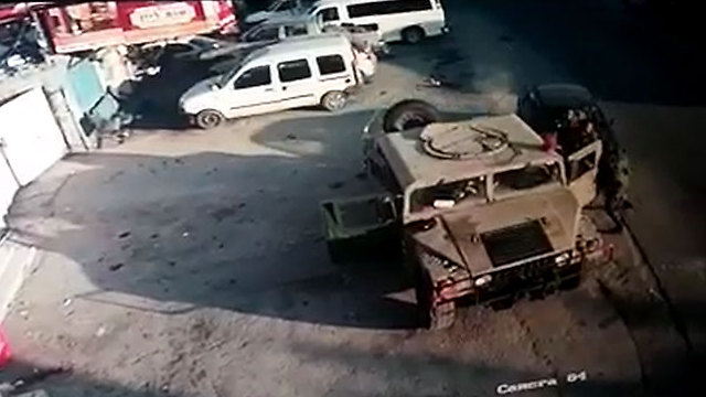 The moment of the vehicular attack near Beit Aryeh in the West Bank