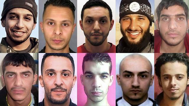 עשרת המחבלים. שניים עדיין חופשיים (צילום: AFP) (צילום: AFP)