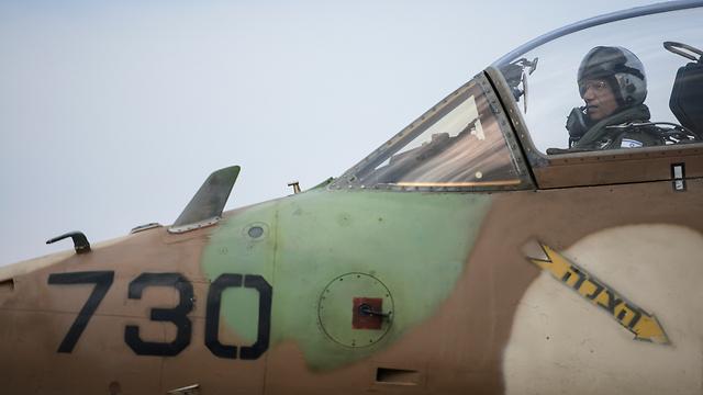 Eshel in the cockpit (Photo: IDF Spokesperson)