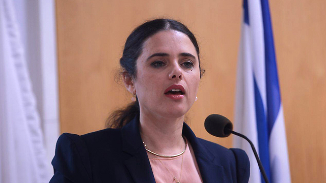 Justice Minister Ayelet Shaked. The freedom to criticize the government, supervise its activity and help those harmed by it is a vital way of action in a democracy (Photo: Motti Kimchi)