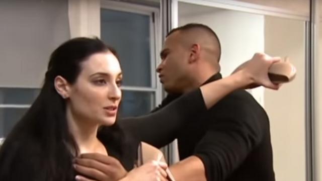 Avital Zeisler demonstrating her unique martial art