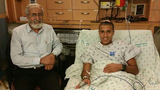 אורון שאול. נפצע אתמול בפיגוע בירושלים (צילום: יעל פרידסון) (צילום: יעל פרידסון)