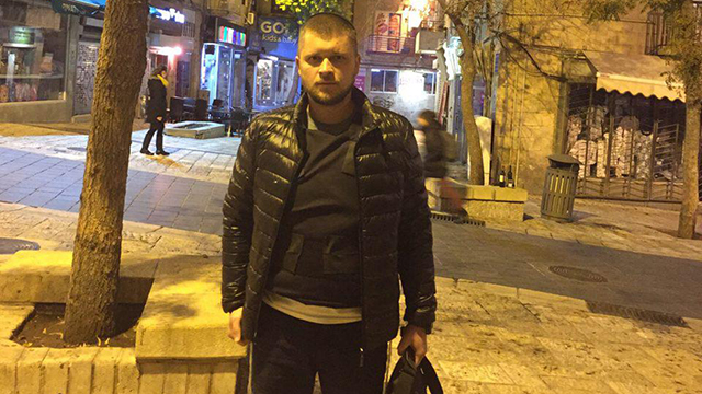 Meir Pavlovsky, wounded in a stabbing attack in Kiryat Arba
