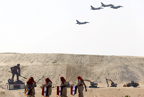 Egyptian military planes over the Suez area (Archive photo: Reuters)