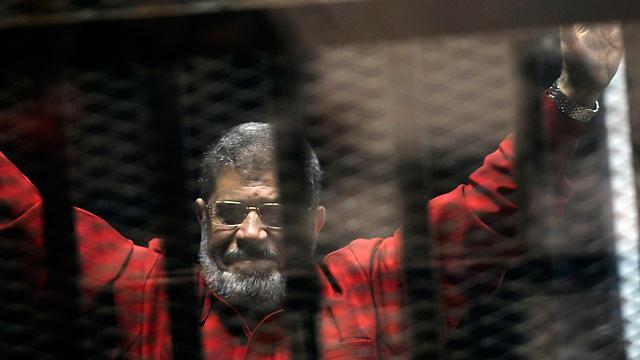 Egypt's former president Mohamed Morsi in prison in 2015 (Photo: AP)